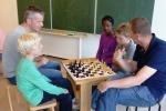 Celina deed mee met Niels en vader Hans.